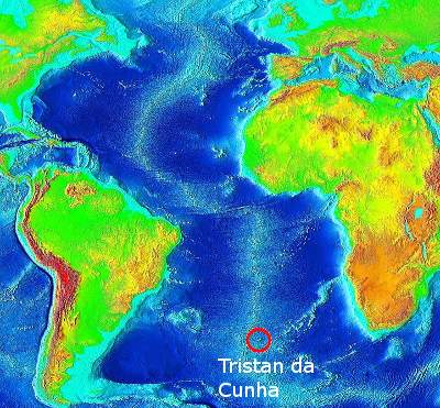 Tristan in South Atlantic
